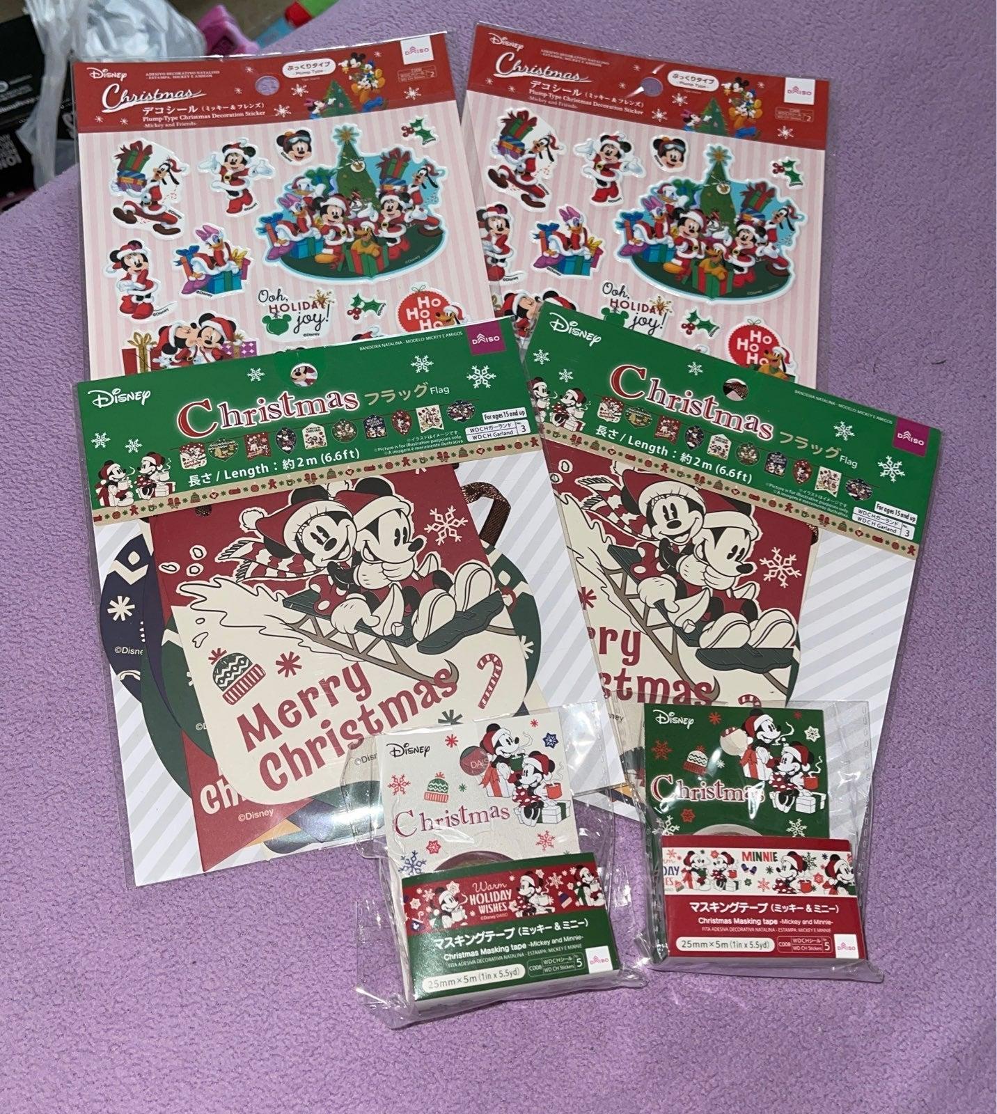 Disney Japan Christmas Decor Set