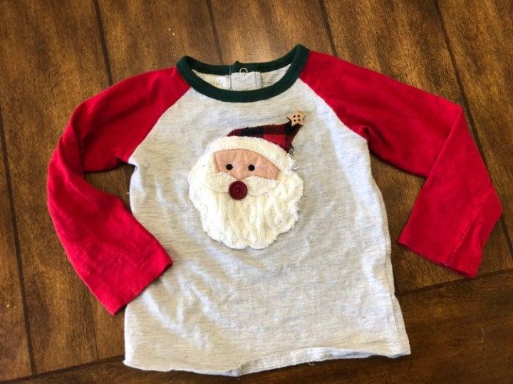 Mud Pie Santa Christmas Shirt Boy 24m