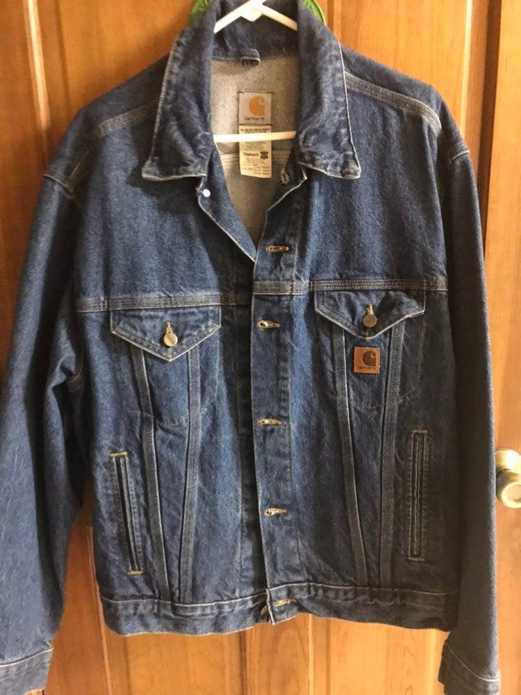 New mens jean jacket sz lg