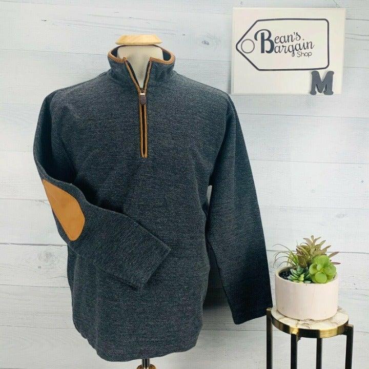 Orvis Simoon Tweed Quarter Zip Sweater