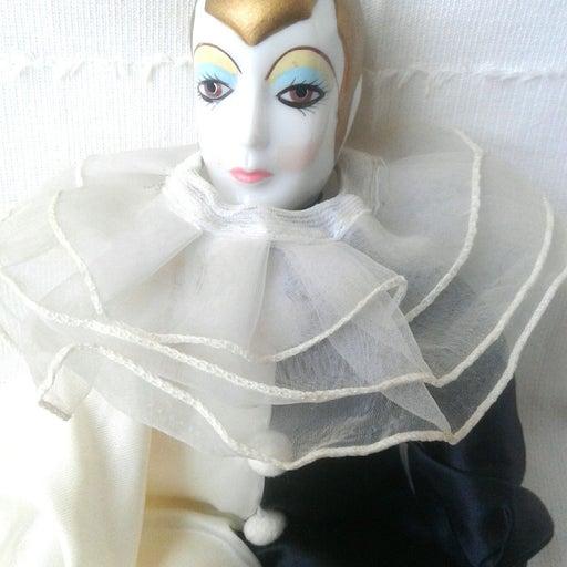 Russ Berrie Pierrot Love Porcelain Doll