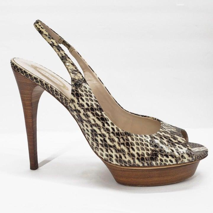 Elie Tahari Stiletto Heel Snake Print 10