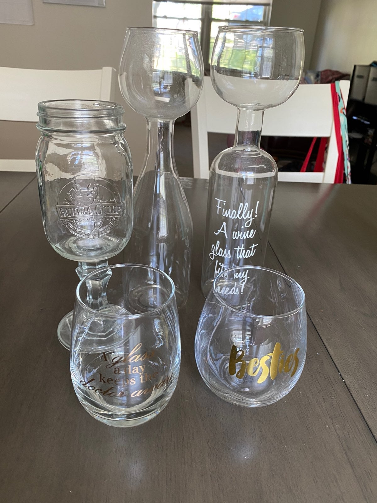 Assorted wine glass collection