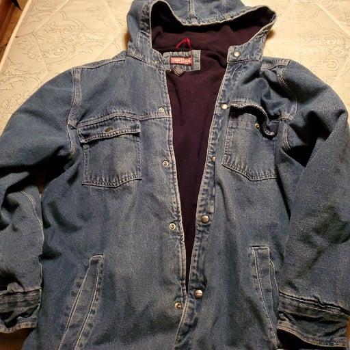 Mens craftsman jean jacket lined size la