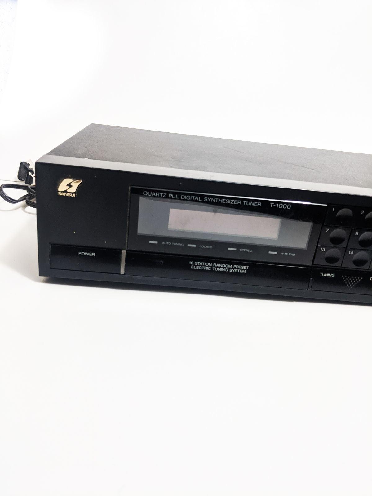 Sansui t-1000 tuner vintage working