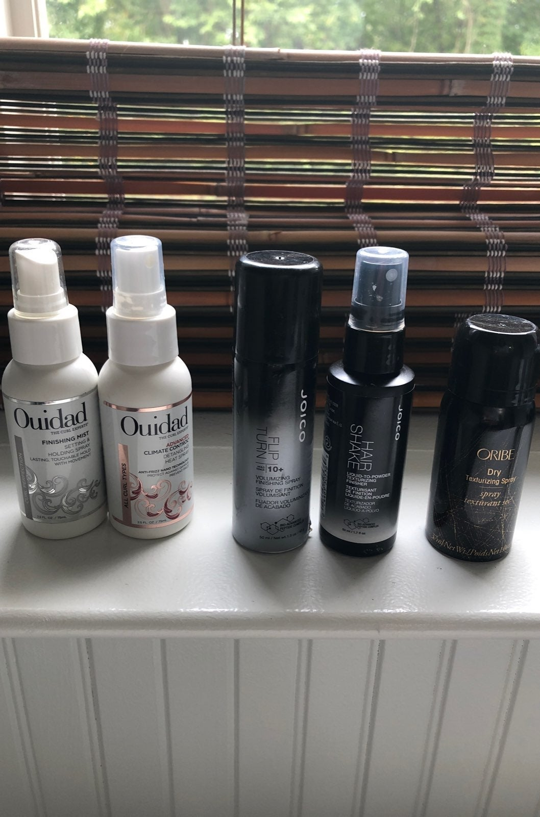 5 Travel Size Ouidad with Hair Shake and