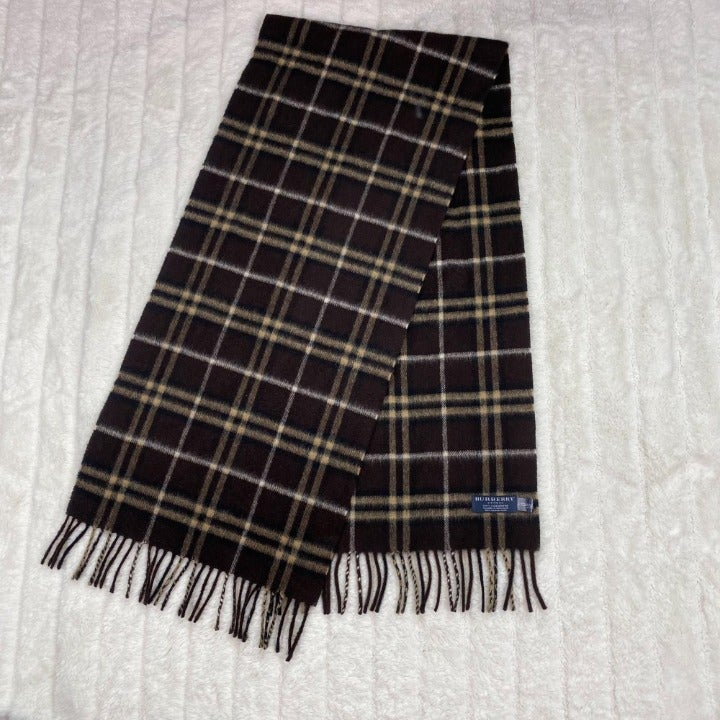 Authentic Burberry Scarf Brown & Tan OS