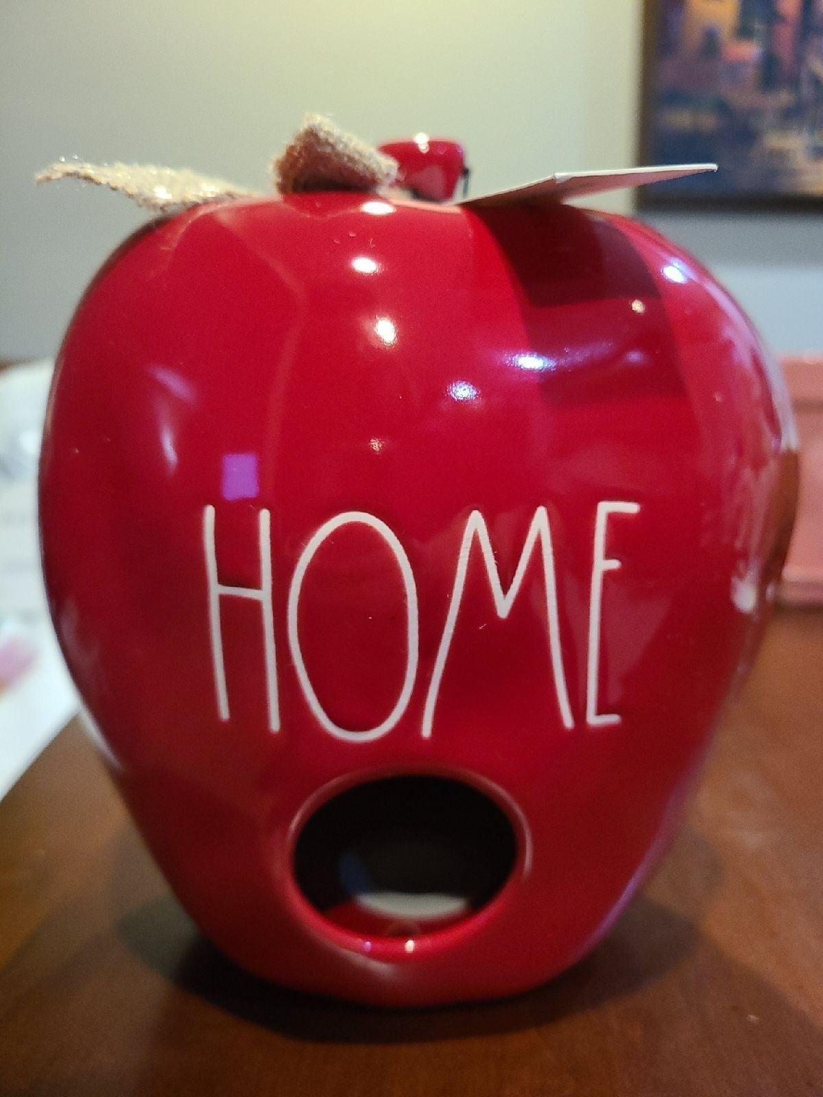 Rae Dunn Red Apple HOME Birdhouse