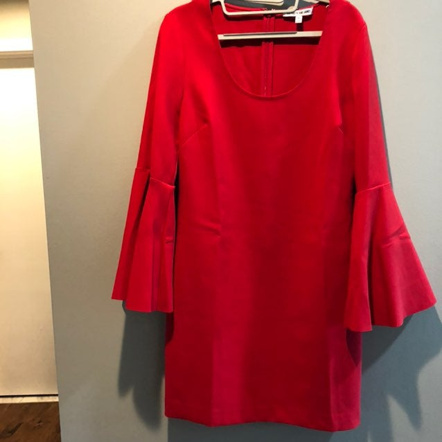 Elizabeth And James Red Knit Dress