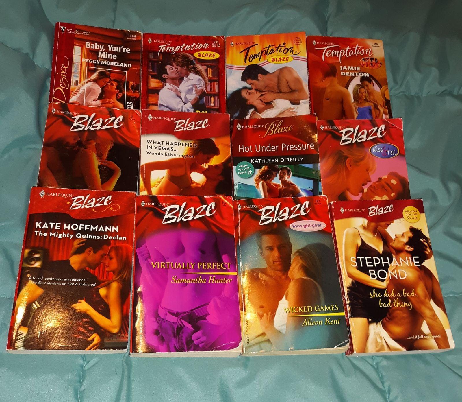 (12) Harlequin Blaze romance books