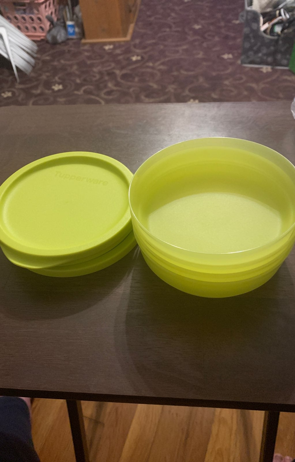 Tupperware mini set of 4 snack bowls