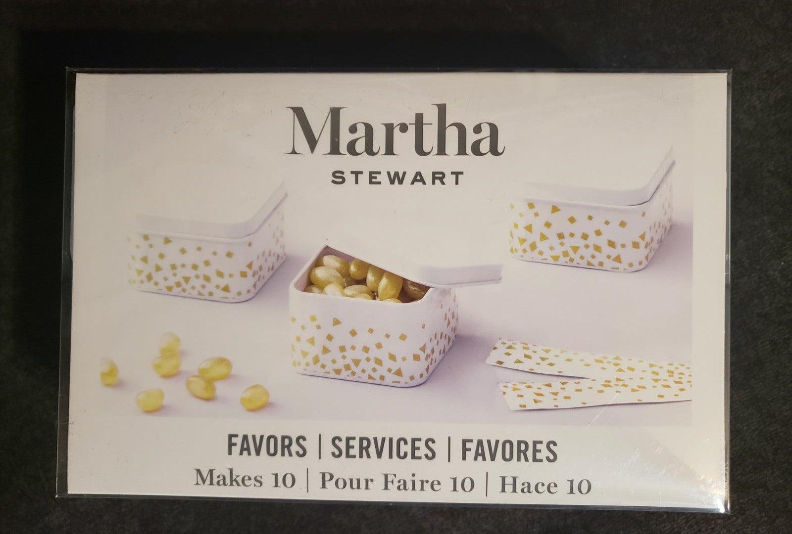 Martha Stewart White Favor Tins