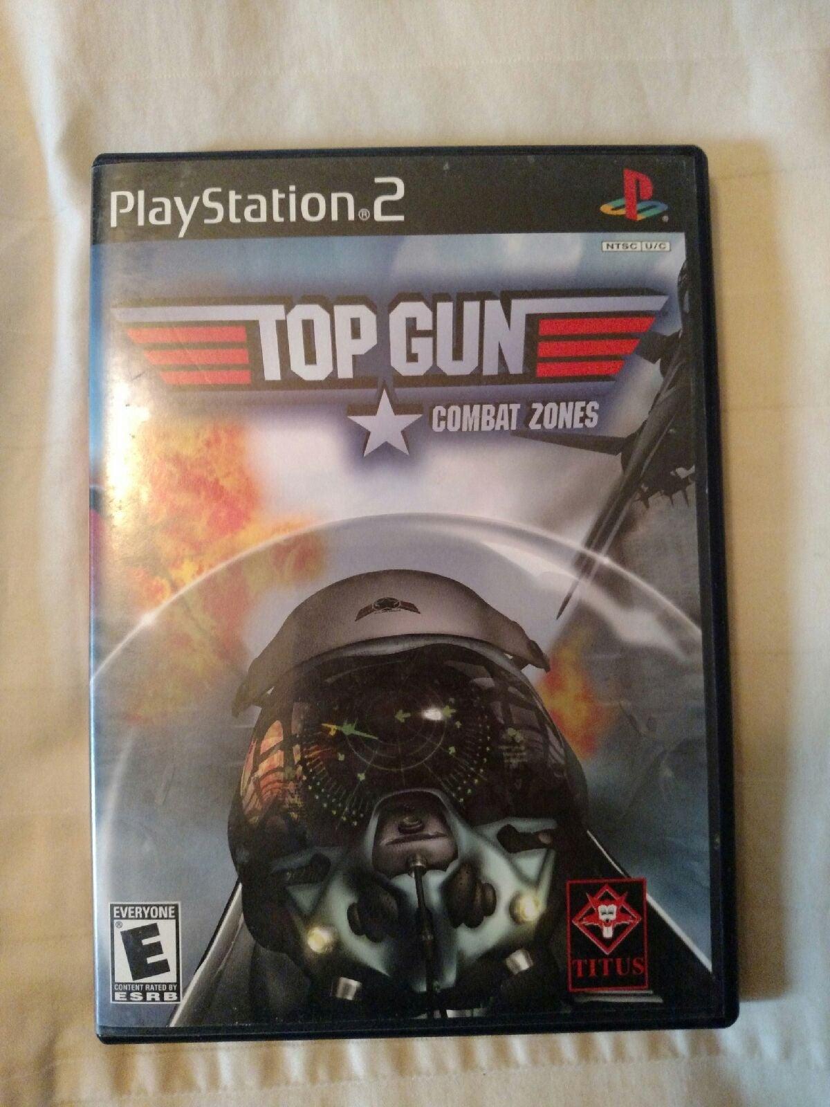 PS2 game disc Top Gun combat zone