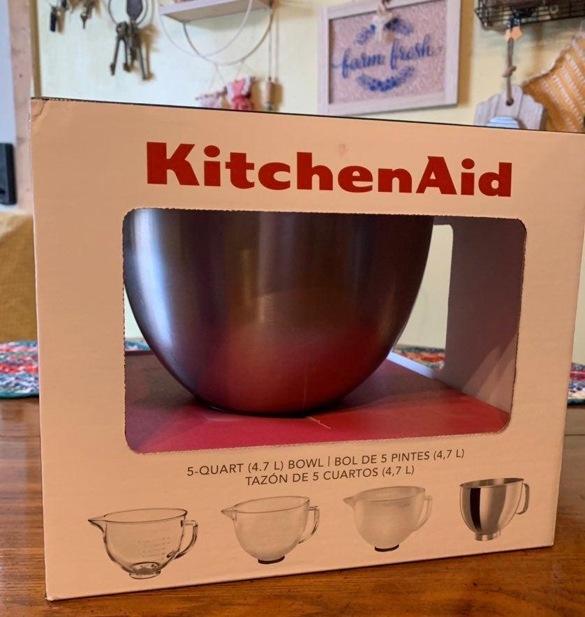Kitchenaid stand mixer stainless bowl