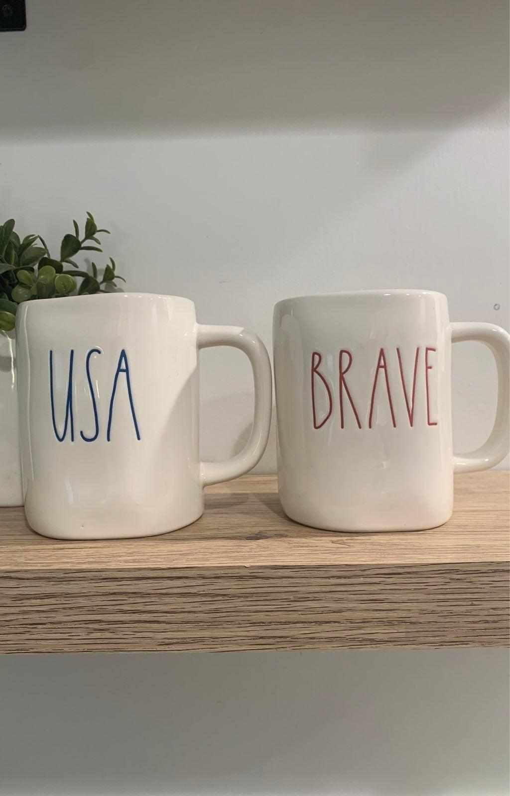 Rae Dunn USA mug & brave mug