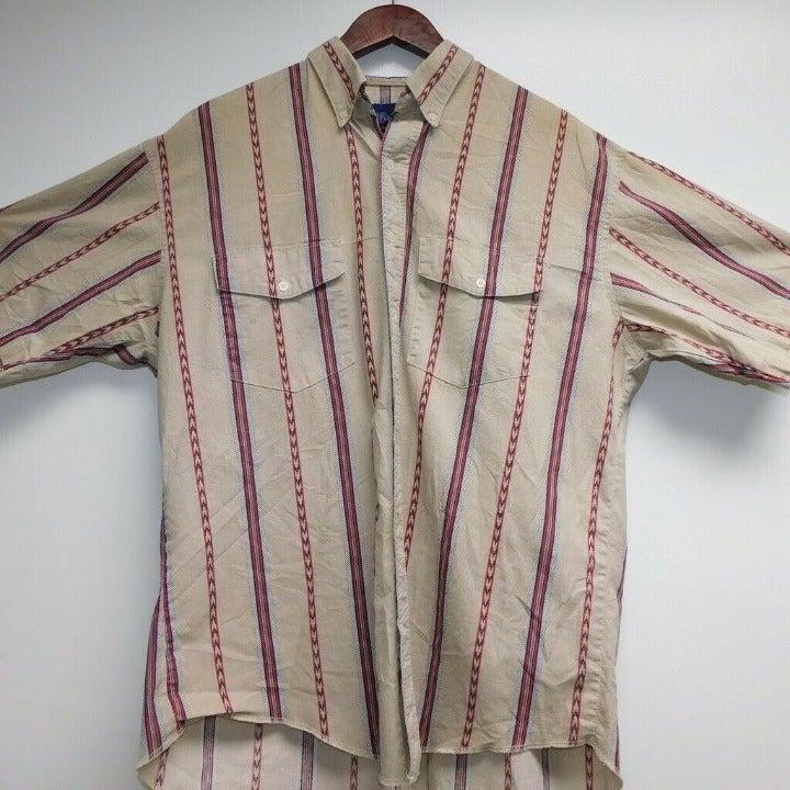 Vintage Wrangler Mens Button Down Shirt