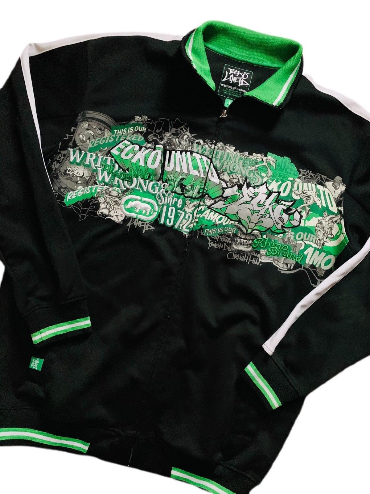 Ecko Unltd. Green Graffiti Track Jacket