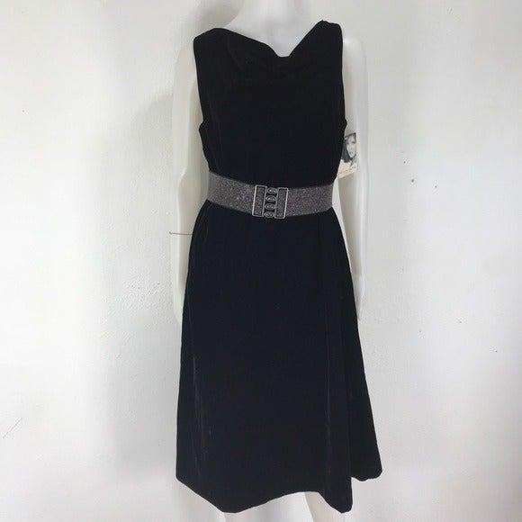 JacIynn Smith Black velvet Dress Sz 16W