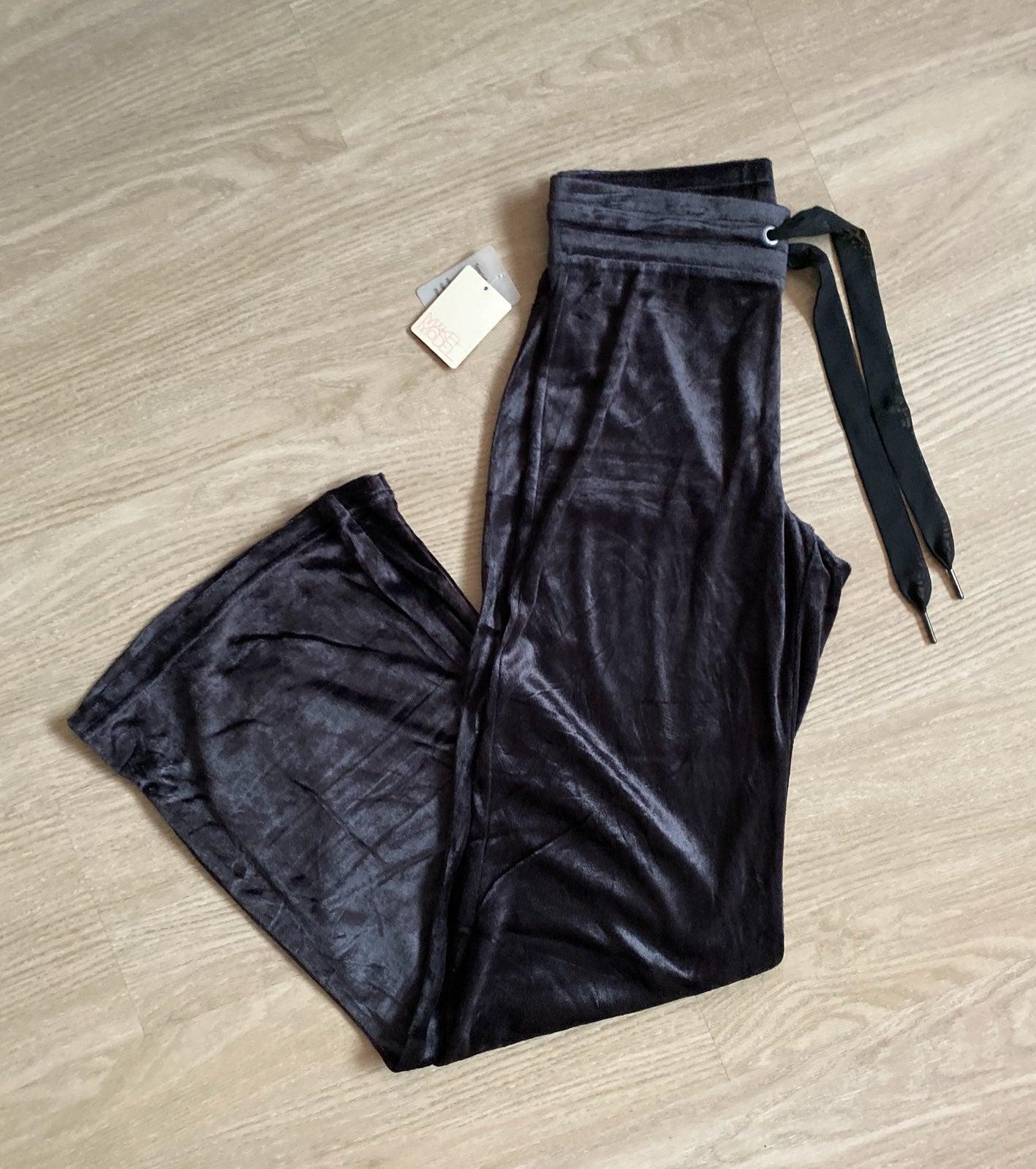 Black Velvet lounge pants
