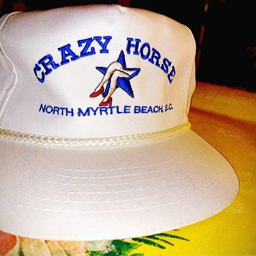 """VINTAGE 90s """"CRAZY HORSE"""" SNAPBACK HAT"""