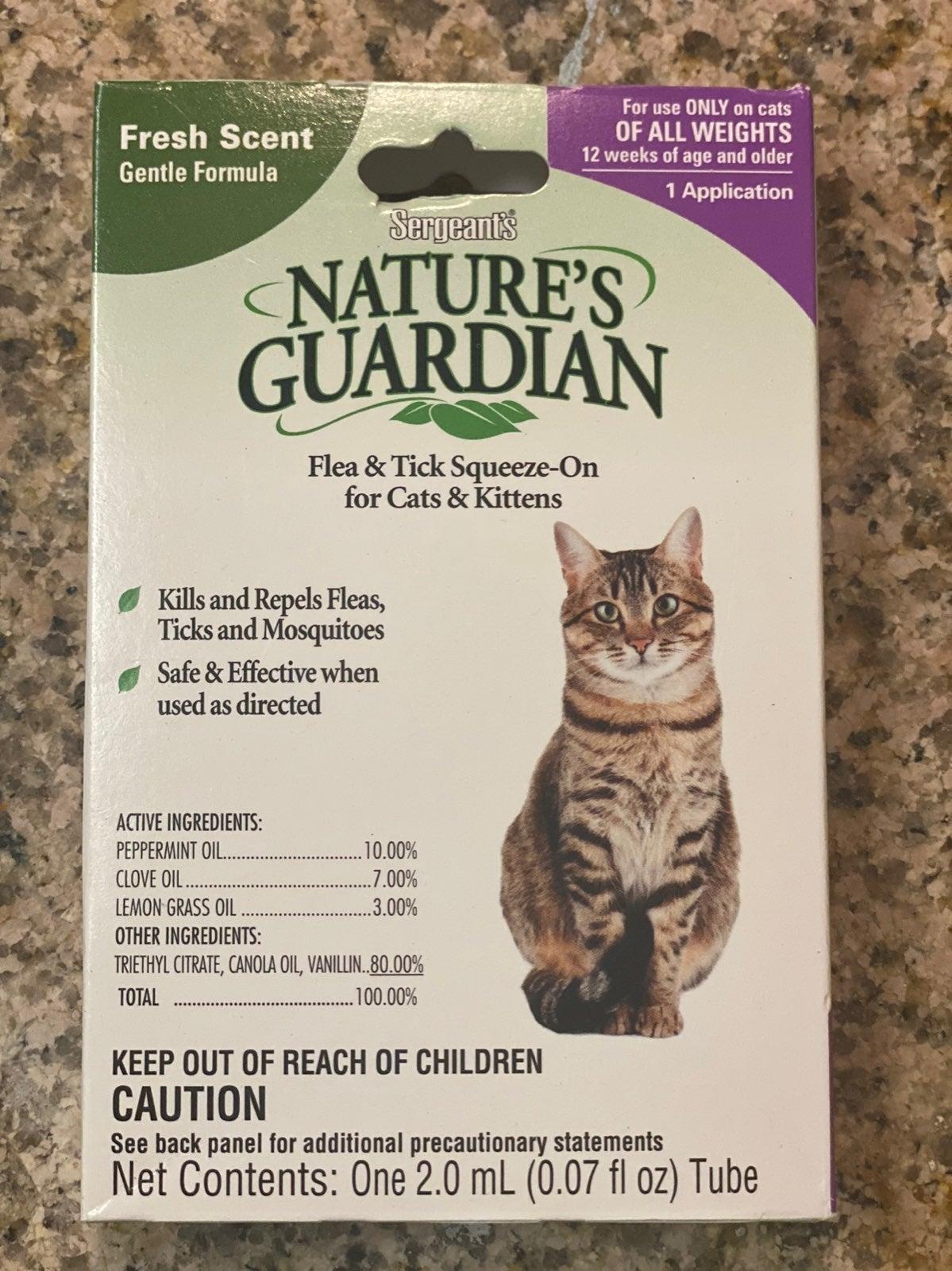 Cat Natural Flea & Tick Squeeze Cats 12