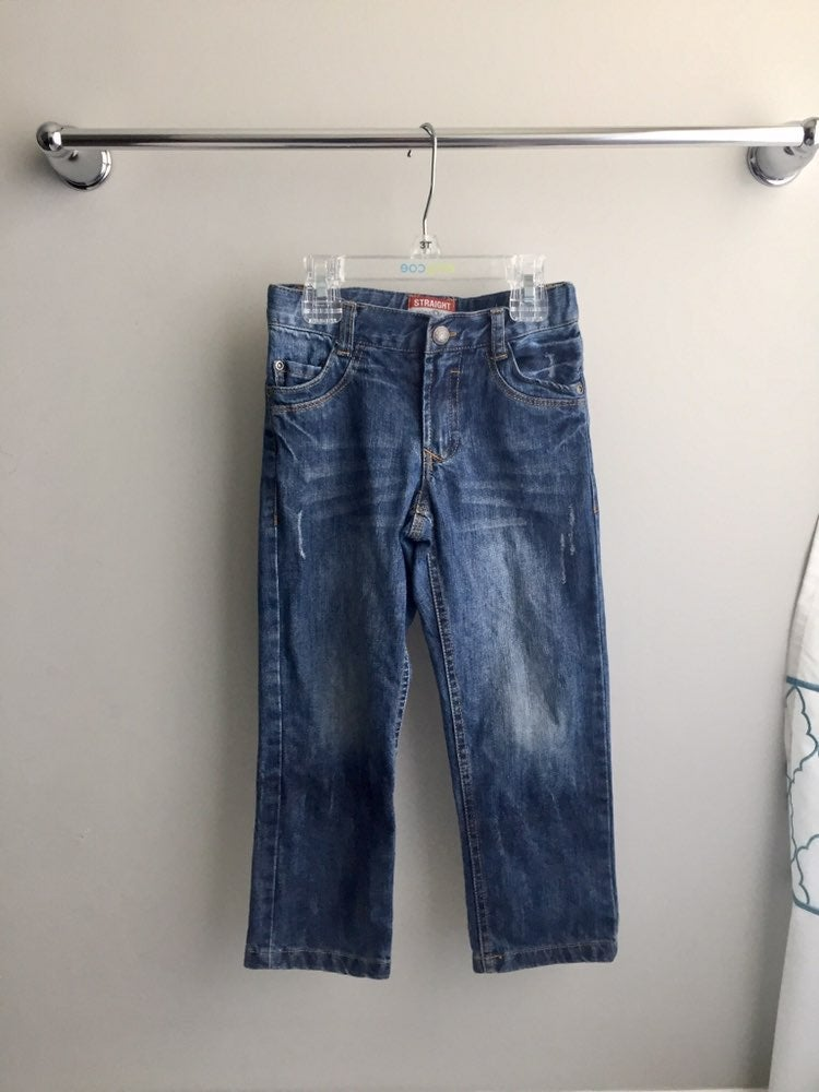 Toddler Boy distressed blue jeans 4T