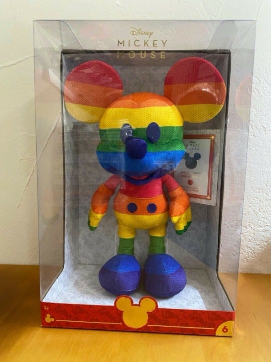 Disney Rainbow Mickey Mouse Pride Plush