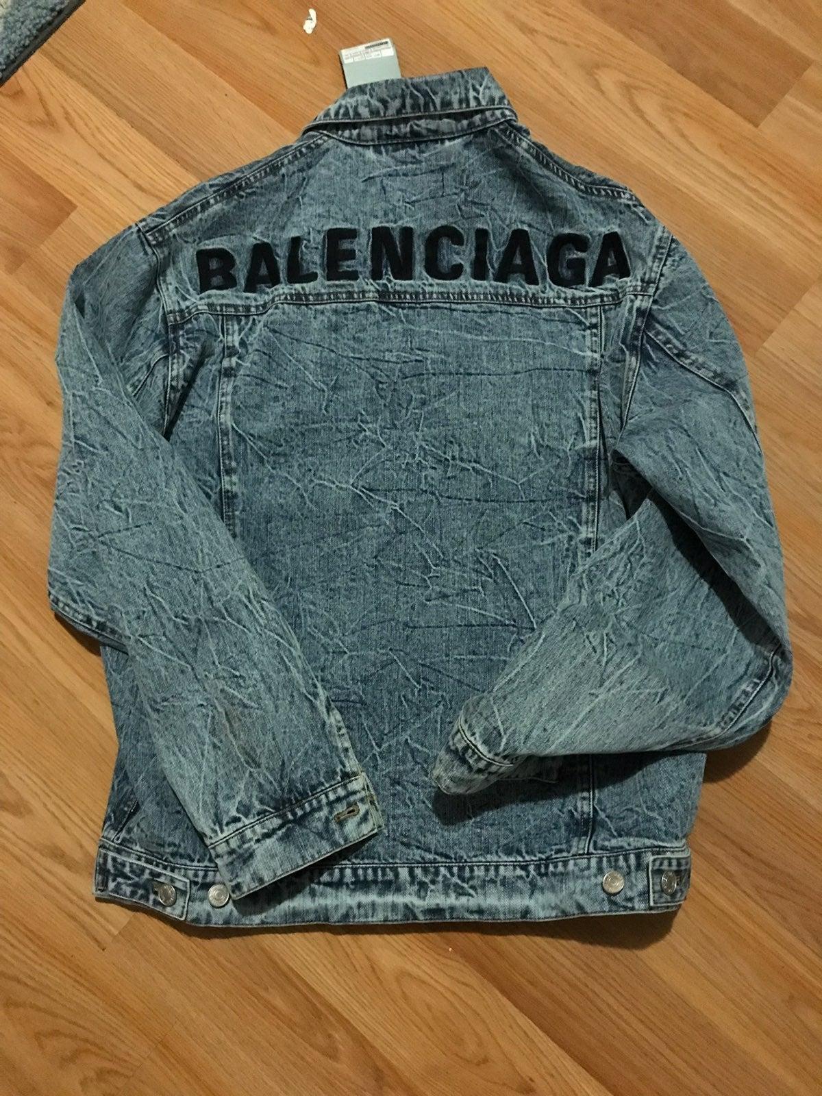 Balenciaga logo oversized denim jacket