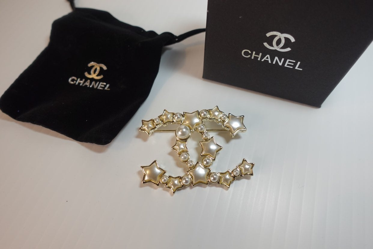 Chanel Pearl Star Brooch