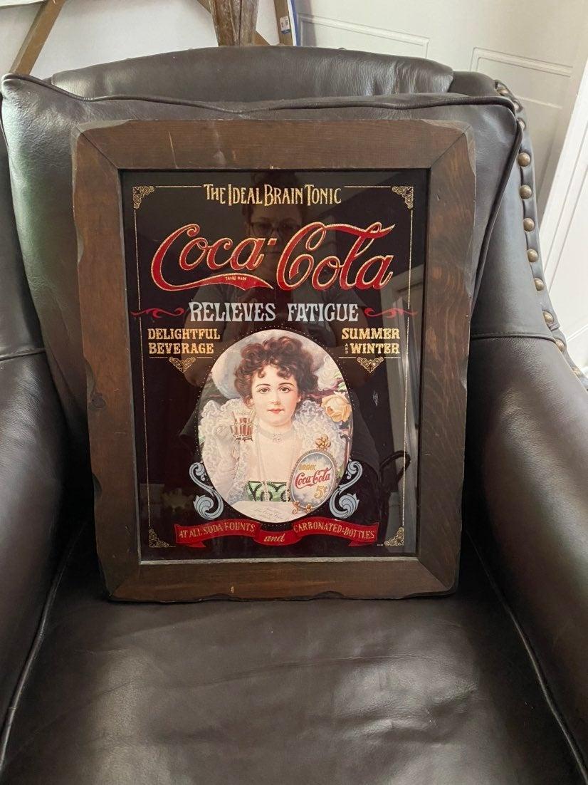 coca cola Vintage mirrorw/ frame