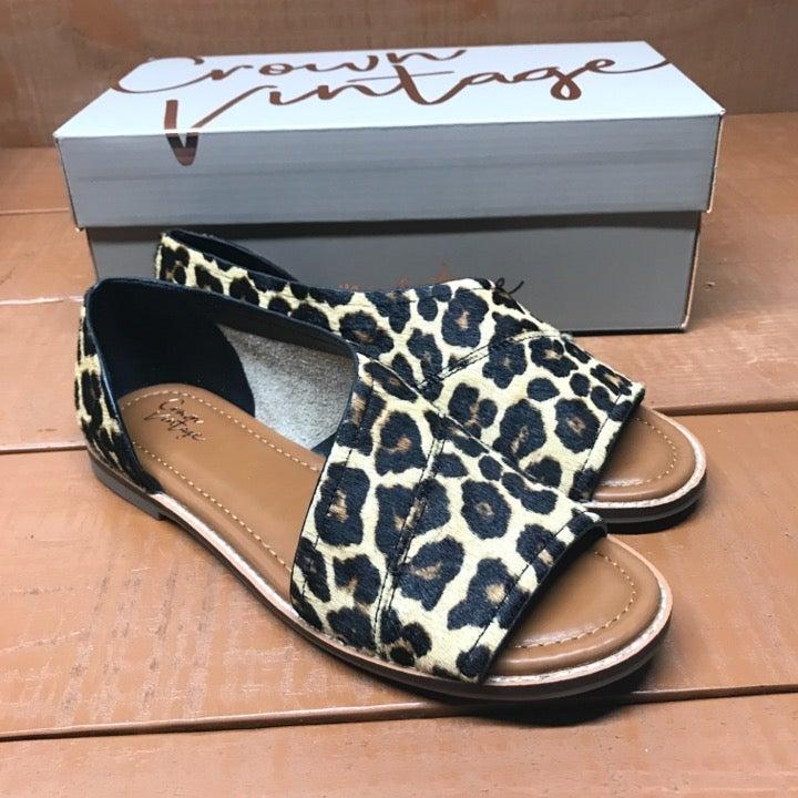 Crown Vintage Leopard Flats - 7.5