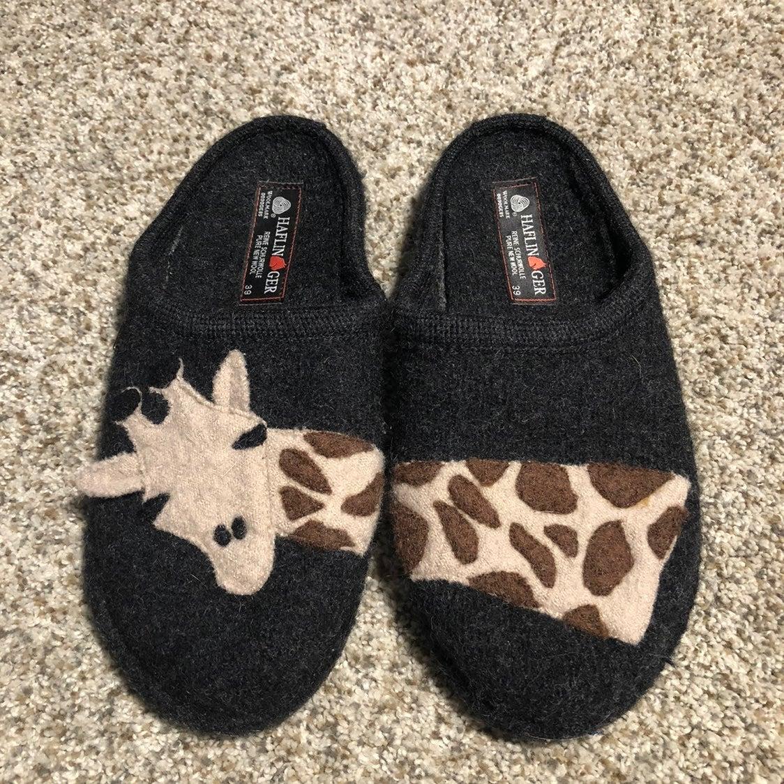 Haflinger Giraffe Slippers - 39