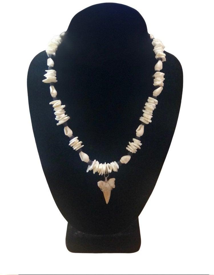 Shark tooth puka necklace