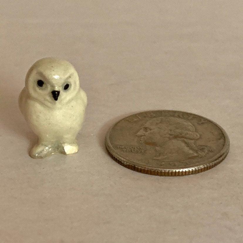 Vtg Hagen-Renaker baby snowy owl w/break