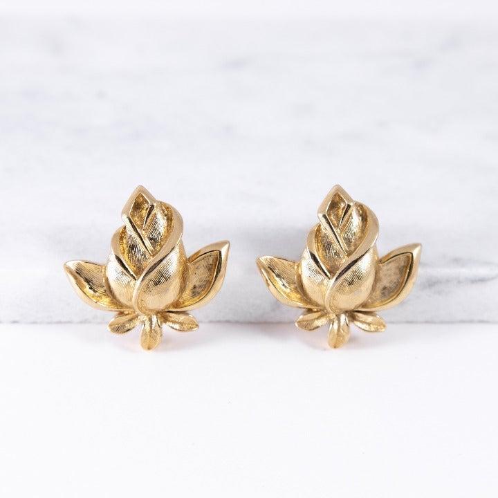 Vintage Trifari Rose Earrings