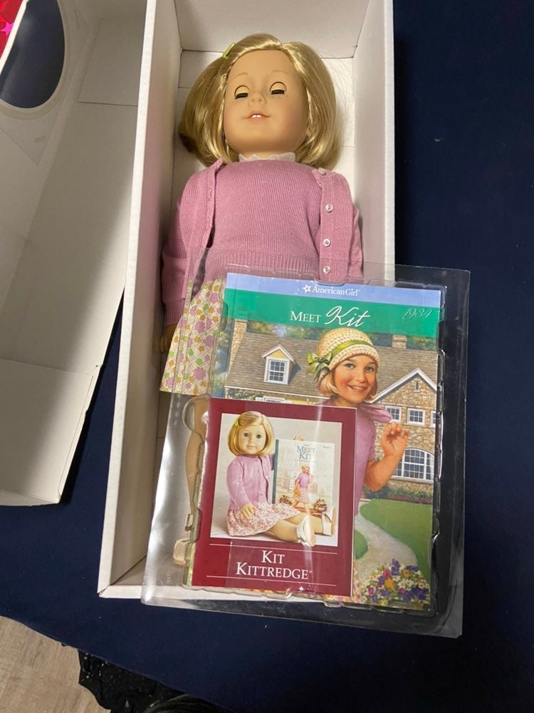 American Girl Kit Doll and Book