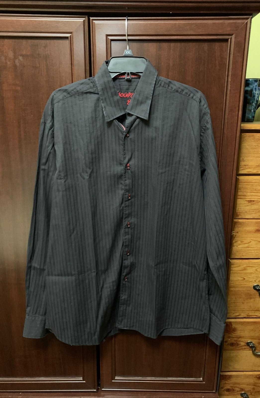 Black mens XL Visconti Black dress shirt