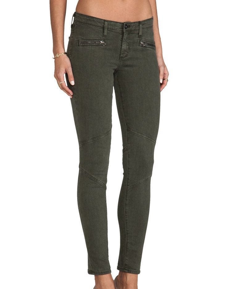 AG Moto Jeans size 29 Olive Green