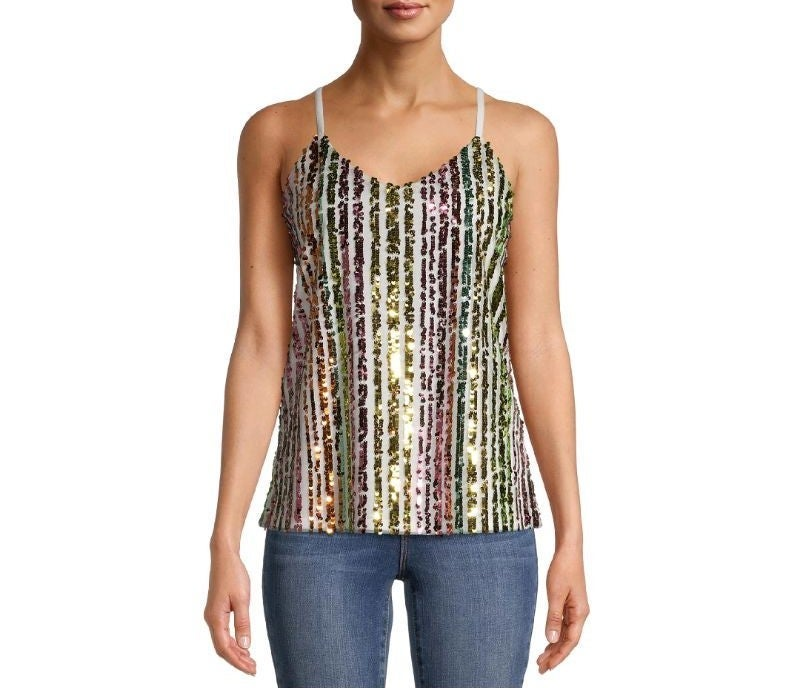 Large Sequin Tank Cami Top NWT