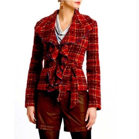 Tabitha Anthropologie Wool Tweed Jacket