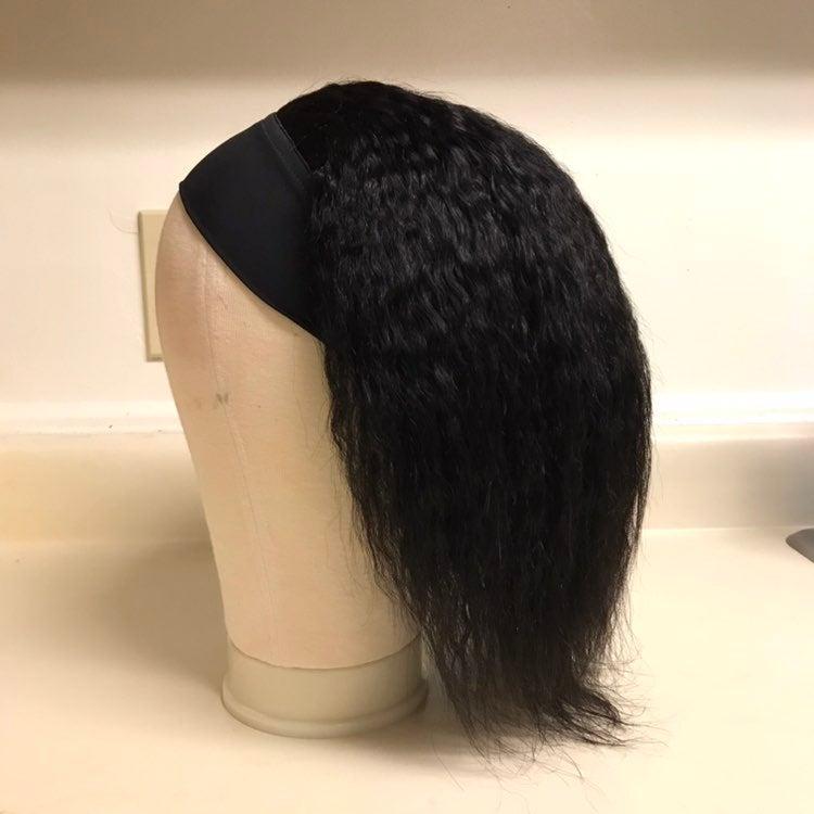 Human Hair Headband Wig Kinky Straight