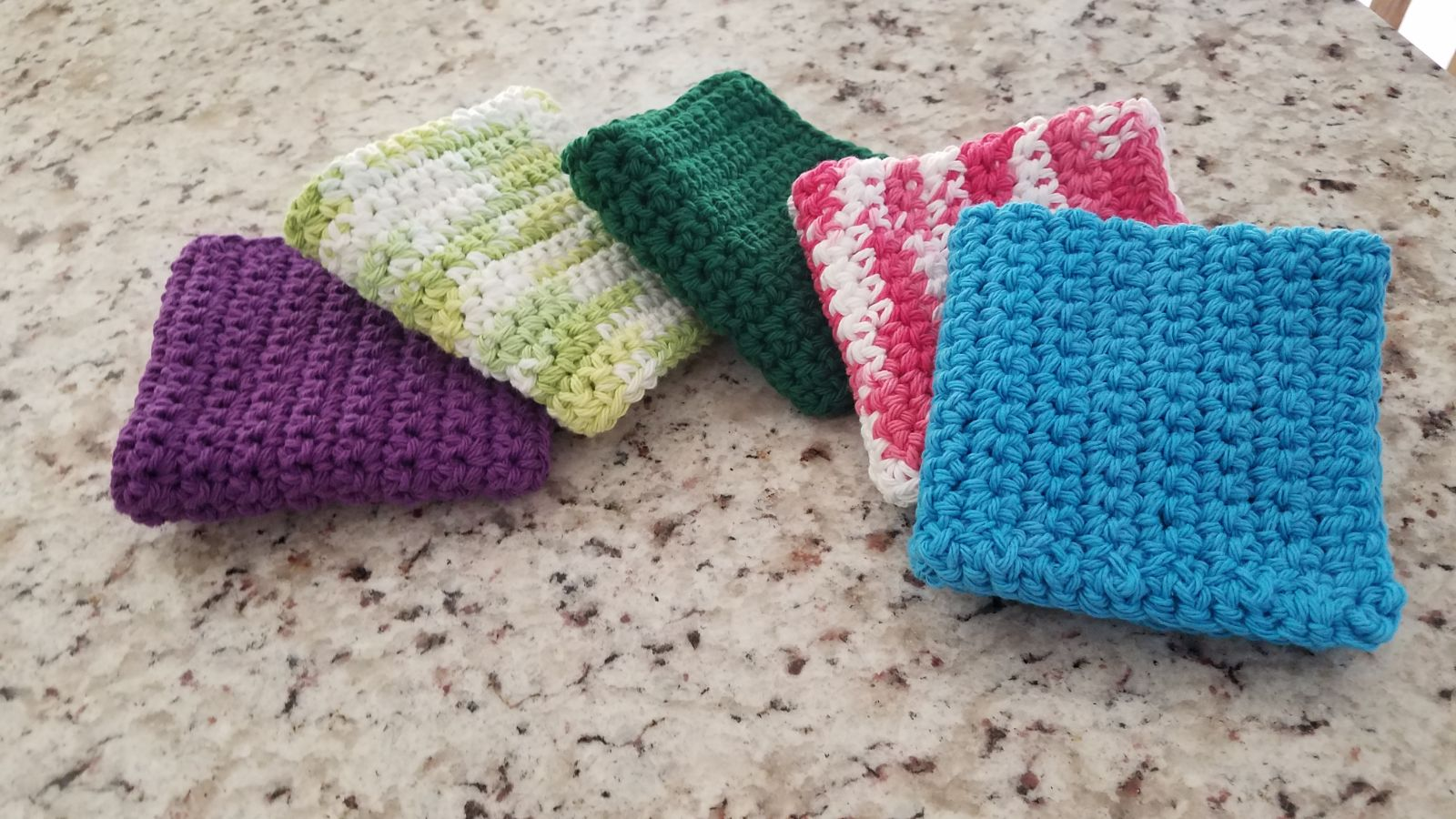 Set of 4 handmade crocheted dishcloths