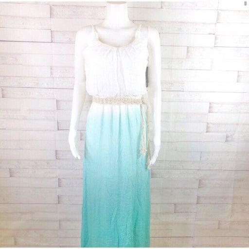 New! BCX Sleeveless Dip-Dyed Maxi Dress