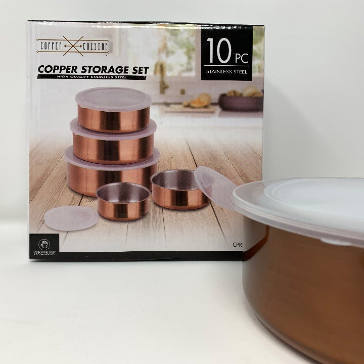Copper Cuisine 10 Piece Storage Bowls