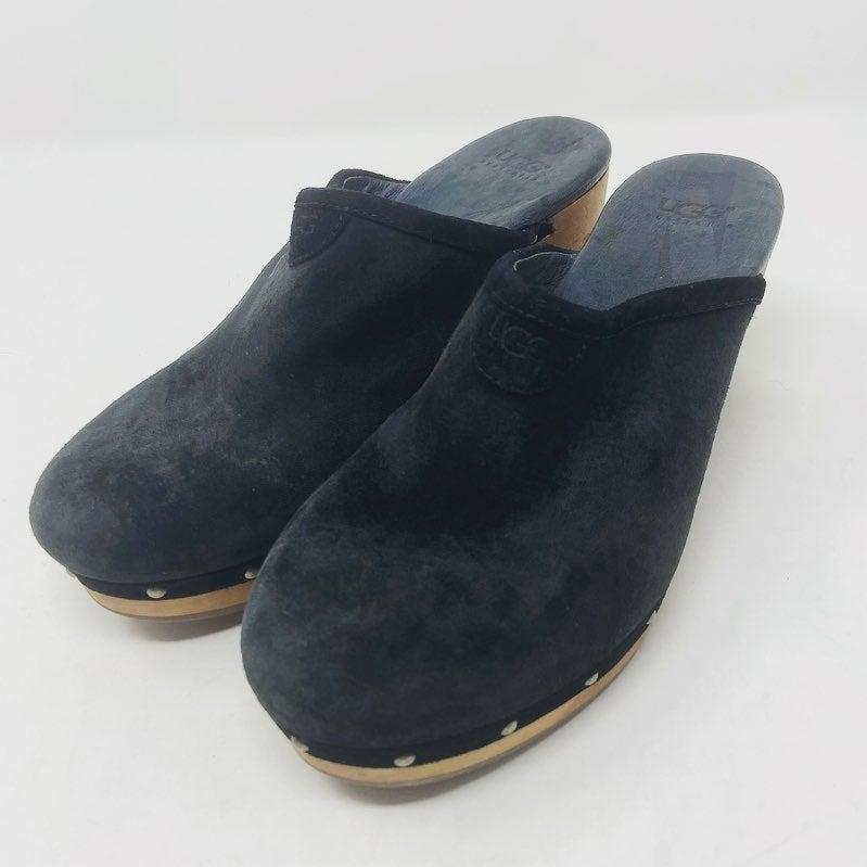 Ugg Women's Black Cozy Mule Heels Size 7