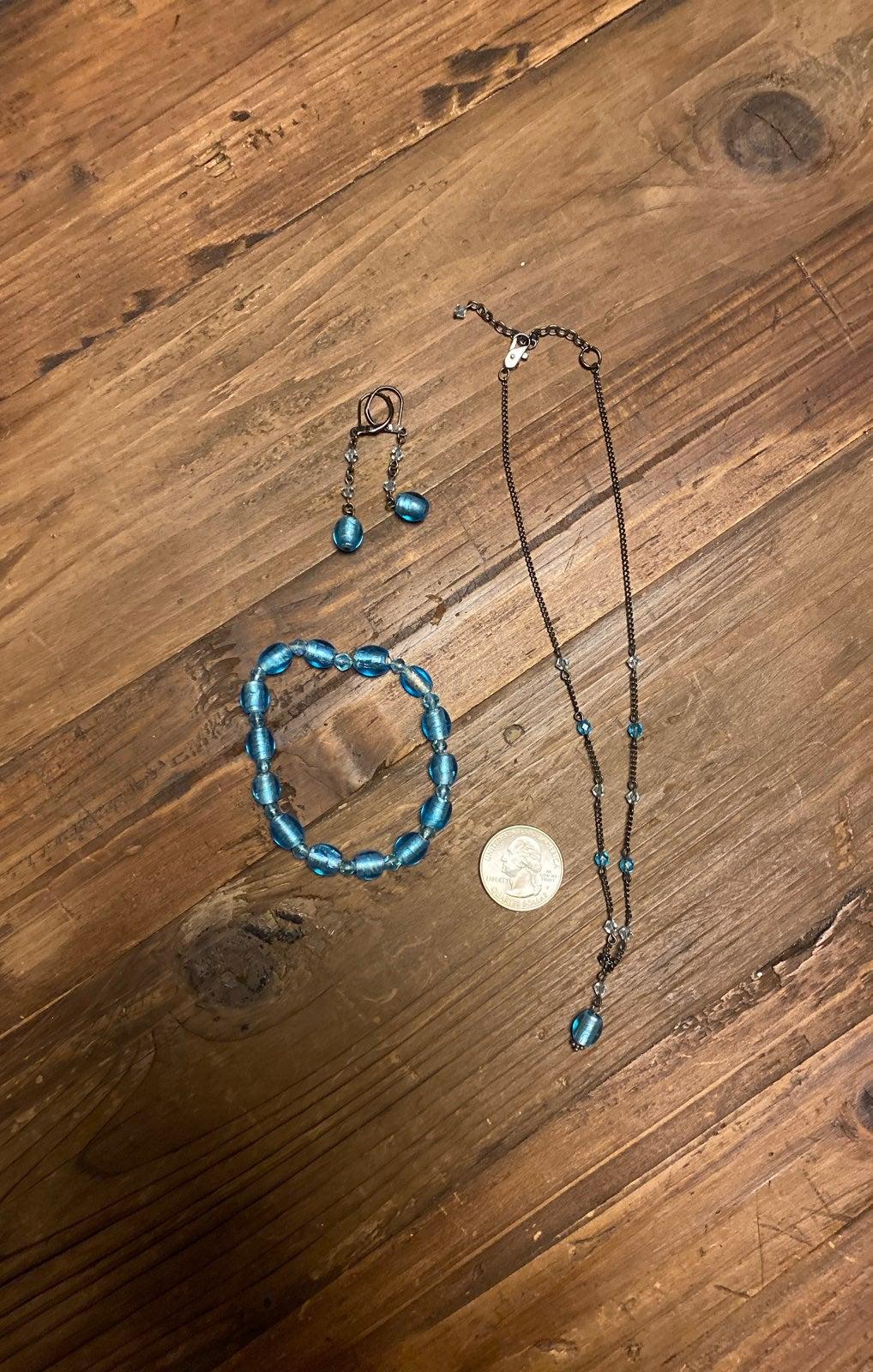 Necklace, Earrings & Bracelet