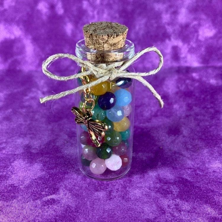 Color Quartz Faceted Round Beads
