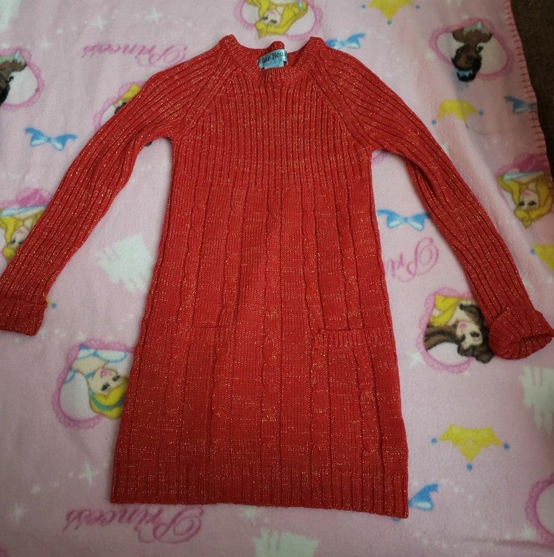 Girls 4t red sweater dress