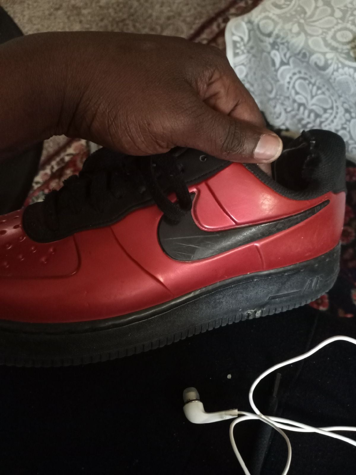 Nike Air Force 1 Foamposite Red