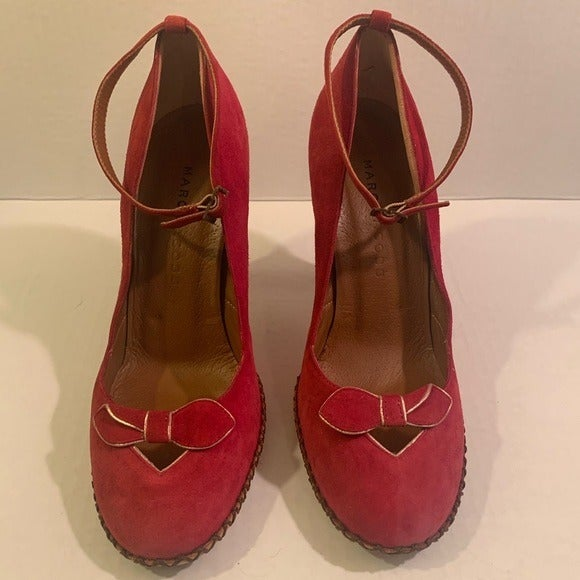 Marc Jacobs Vintage Red Suede Shoes Size 6M